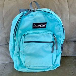 Baby blue Jansport backpack